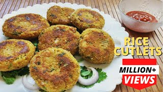 Download Rice Cutlets using Leftover Rice | Indian Snack Recipe | चावल के कटलेट्स Video