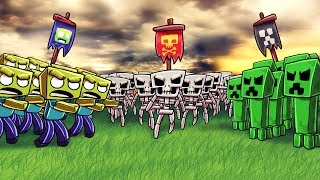 Download Minecraft | ZOMBIE ARMY VS CREEPER ARMY VS SKELETON ARMY! (Massive Mob Battles) Video