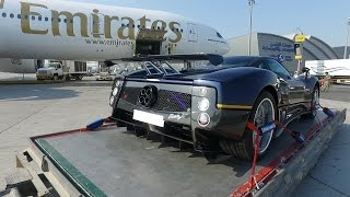 Download Flying A Pagani Zonda From Dubai To Italy Video