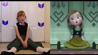Download Do You Want To Build a Snowman? - Frozen Cover Little Anna In Real Life Video