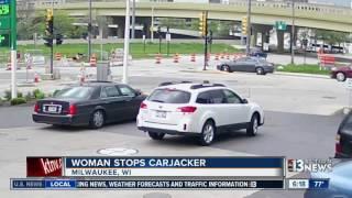 Download Woman stops carjacker in Milwaukee Video