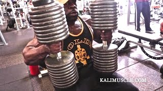 Download Kali Muscle Chest Workout w/ 200lb Dumbbell Press Video