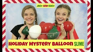 Download Holiday Mystery Balloon Slime Challenge ~ Jacy and Kacy Video