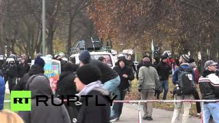 Download Germany: See Berlin leftists clash with police, anti-immigration protesters Video