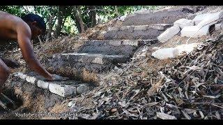 Download Primitive Technology, Making limestone kiln stair Video