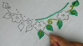 Download hand embroidery: easy beautiful neck design | neck design for kurti Video