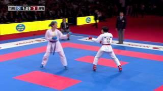 Download Final Female Kumite -68kg. Seyda Burucu vs Kayo Someya. WKF World Karate Championships 2012 Video
