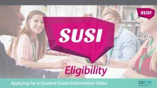 Download SUSI Student Grants. Eligibility Criteria Video