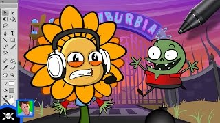 Download See James Draw - Zack Scott Vs. Plants Vs. Zombies Video