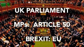 Download UK MPs Article 50 EU PARLIAMENT FOOTAGE Sky News Video