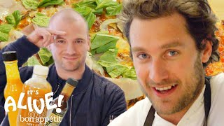 Download Brad and Sean Evans Make Cast-Iron Pizza | It's Alive | Bon Appétit Video