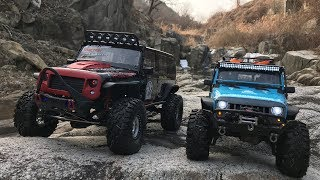 Download Traxxas TRX4 Rubicon JK | Traction Hobby CRAGSMAN | Off Road Trail Video