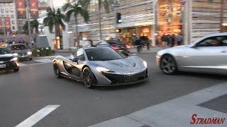 Download One day of Supercars in Beverly Hills: McLaren P1, Bugatti Veyron, Lamborghini Aventador Video