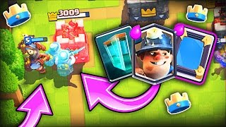 Download MIRROR MINER CLONE SPELL!! • Clash Royale Trolling Video