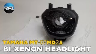 Download Yamaha MT-07 / FZ-07 - Bi-Xenon Headlight Upgrade Kit | Yamaha MT 07 Headlight Mod Video