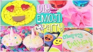Download DIY EMOJI PARTY // Unicorn Cupcakes & Easy Decor // SoCraftastic Video