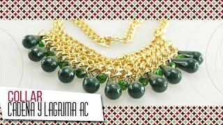 Download Como hacer collar de cadena y lágrima acrílica verde   VARIEDADES CAROL Video