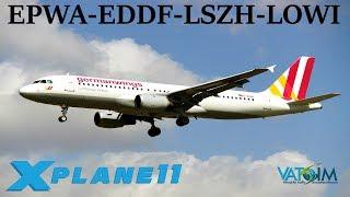 Download X-Plane 11 | Innsbruck & New Frankfurt Scenery! | EPWA-EDDF-LSZH-LOWI | B737 A320 A330 | VATSIM Video