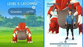 Download LEVEL 5 CATCHING A WEATHERED BOOSTED GROUDON IN POKEMON GO 2018 Video