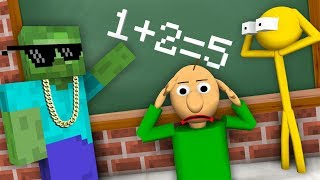 Download Monster School : STICKMAN & BALDI'S BASICS CHALLENGE - Minecraft Animation Video