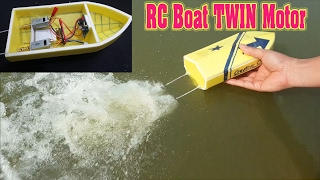 Download How To Make mini RC Boat Twin 180 Motor Video