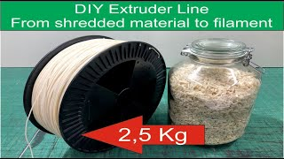 Download DIY 5 Kg Extruder Line From shredded material to filament Video
