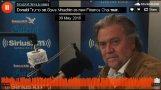 Download Donald Trump on Steve Mnuchin New Campaign Finance Chair (May 2016) Video