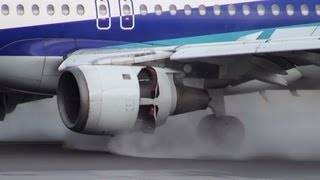 Download [A320 Reverse Thrust Close-up] ANA Airbus A320-200 JA8386 LANDING TOYAMA Airport 富山空港 2013.5.2 Video