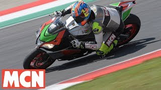 Download Aprilia RSV4 RF FW kit | First Ride | Motorcyclenews Video