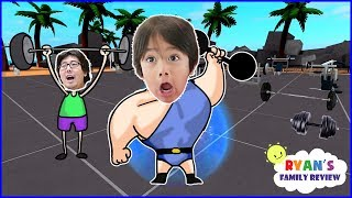 Download ROBLOX Weight Lifting Simulator 2! Let's Play with Ryan's Family Review! Video