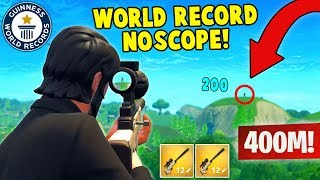 Download WORLD RECORD NOSCOPE 400M! (Fortnite FAILS & WINS #4) Video