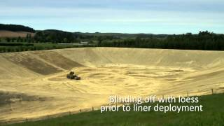 Download Water storage reservoir construction Video