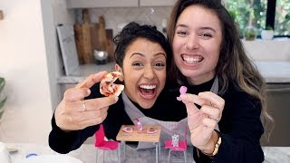 Download COOKING TINY FOOD WHILE CONJOINED CHALLENGE!! Video