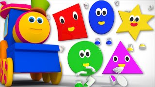 Download five little shapes   Kids Tv Show   nursery rhyme   Shapes Song Kids Tv   Bob The Train Video
