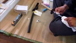 Download 日本刀錆取り。日本刀真剣錆落とし動画です! Video
