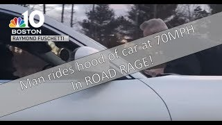 Download Video: Man on hood goes 70mph in road rage incident - Boston Mass Video