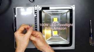 Download 100 Watt LED vs 500 Watt Halogen Floodlight Comparison Video