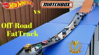 Download Hot Wheels vs Matchbox epic fat track off-road tournament race Video
