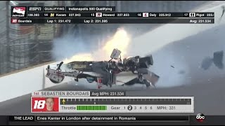 Download Bourdais Massive Accident In Qualifying   Indianapolis 2017 Video