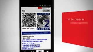 Download Mobile CFF. Le distributeur de billets en main. Video