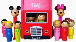 Download London Bus wooden toy learn colors educational surprise toys video for babies toddlers preschoolers Video