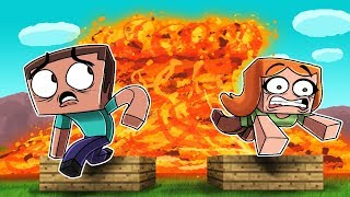 Download Minecraft - ESCAPE LAVA TSUNAMI CHALLENGE! (RUN FROM THE TSUNAMI!) Video