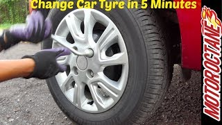 Download Change tyre in 5 minutes - 5 मिनट में टायर बदलें   Without getting tired   Motor Octane Video