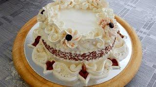 Download УКРАШЕНИЕ ТОРТОВ- Торт Элегантность. Cake decoration Video