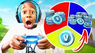 Download 9 Year Old Kid WINS 10,000 V BUCKS In 1 Kill = 1 Spin Challenge! (Wheel Of Fortnite) Video