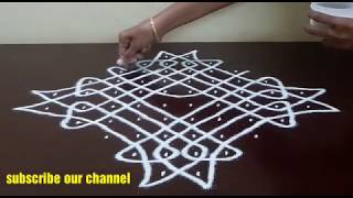 Download 10 DOTS KOLAM || KAMBI/ CHIKKU KOLAM || MELIKALA MUGGULU WITH DOTS || Video