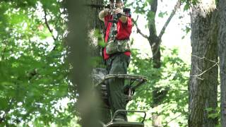 Download How to shoot at a deer from a tree stand Video