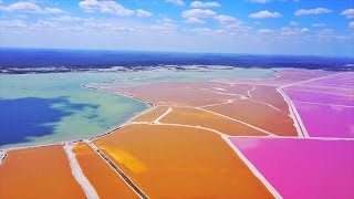 Download Review of Las Coloradas, Pink Lakes YUCATAN, Mexico Video