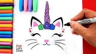 Download Aprende a dibujar un GATICORNIO (decorativo) fácil   How to Draw a Caticorn Video