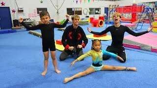 Download OUR LITTLE BROTHER VS SISTER GYMNASTICS BATTLE! Video
